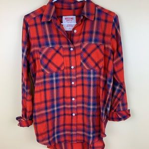 Mossimo boy friend style flannel button up shirt